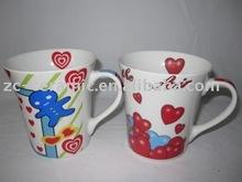Ceramic Mug, Porcelain Mug, Lovers' Cup
