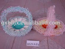Yuvarlak/yumurta şeklinde bez ve kağıt halat katlanabilir tatil dekorasyon hediye çiçek sepeti
