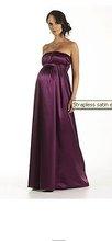 Strapless satin evening dress Maternity Wear