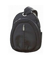 Black Rounded Backpack