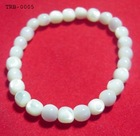Trendy Bracelets ------TRB-0005 7-8mm white MOP (mother of pearl) beads