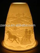 Lithophane lighted christmas candles-BC015-06011