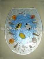 beautiful polyresin toilet seat