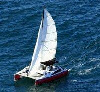 Sea-Tribe 870 Sail Cat boat