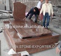Maple Red Gravestones and Tombstones ( Red Granite Headstones, Red Granite Memorials)