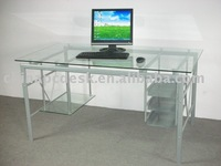 glass desk and table