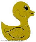 Stand-Up Puzzle (4-pieces) / Bright Yellow Duck toy