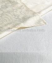 Cotton damask table linen, napkin, serviette, placemat, plain dyed, printed, embroidery