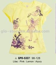 yellow child brand printed girl tshirt