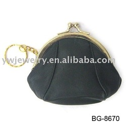 Fashion black cotton fabric ladies purse