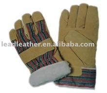 PIg split leather Mens work gloves 2012