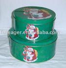 COOKIE TIN CAN, Xmas tin box,Christmas round tin box