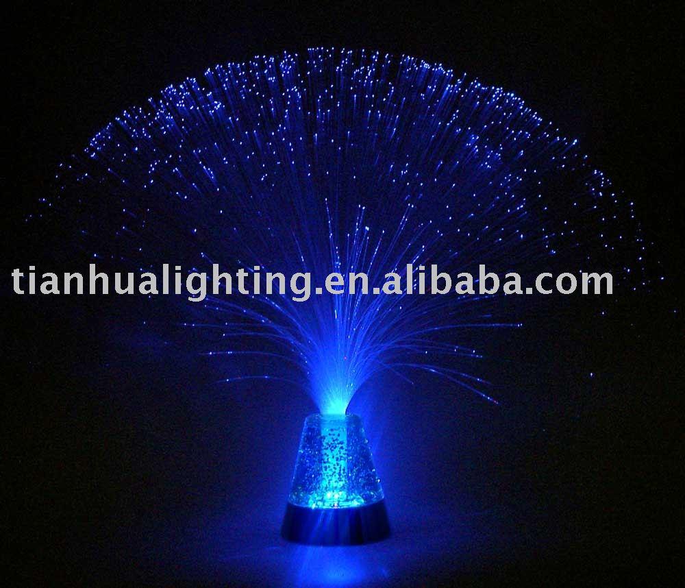 13 led fiber optic light with glitter photo detailed