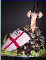 Shield And Sword Kids Cake