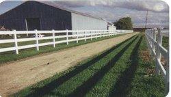 Fence - PVC, 3-Rail Farm Fence