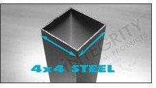 metal fence posts:4x4 Steel Posts