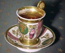 Old Paris Empire Tea Cup
