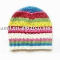 children colorful knitted hat