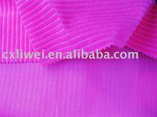 stripe velvet fabric/polyester corduroy