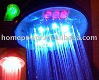 Digital display led shower head, led shower head, digital shower