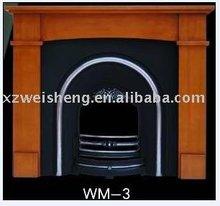 Wooden fireplace mantel