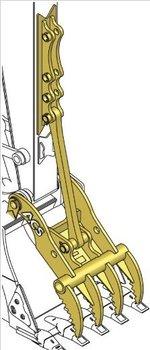 Excavator Pin-On Stiff-Arm Thumb