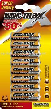 Zinc Carbon Battery AA UM3 R6 10pcs / blister card