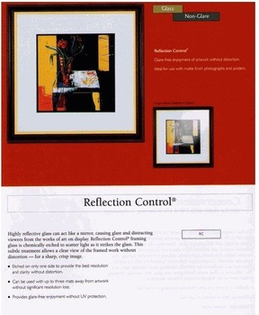 REFLECTION CONTROL GLASS PICTURE FRAME GLASS