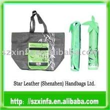 bamboo shape non-woven foldable shopping bag