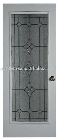 Acero puerta de vidrio fabricaci n 4 panel de la for Puertas de metal con vidrio