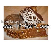 leather belt with studs,rhinestone belt,fashion belt
