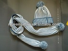 Knitted hat&scarf set,winter hat&scarf set,fashion hat&scarf