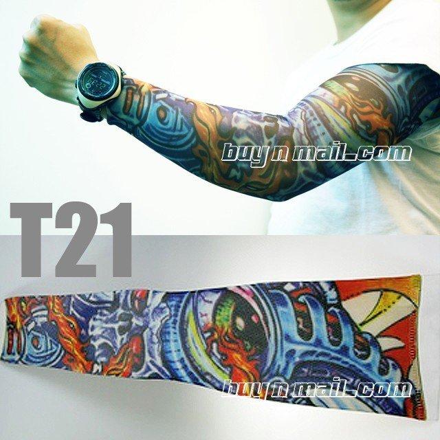 See larger image: body tattoo sleeves/tattoo tribal/nylon tattoo arm sleeves