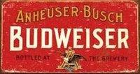 Liquor Tin Signs - Anheuser-Busch Budweiser