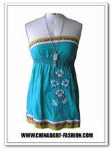 2015 New Design 100% Cotton High Quality Beautiful Fashion Dress