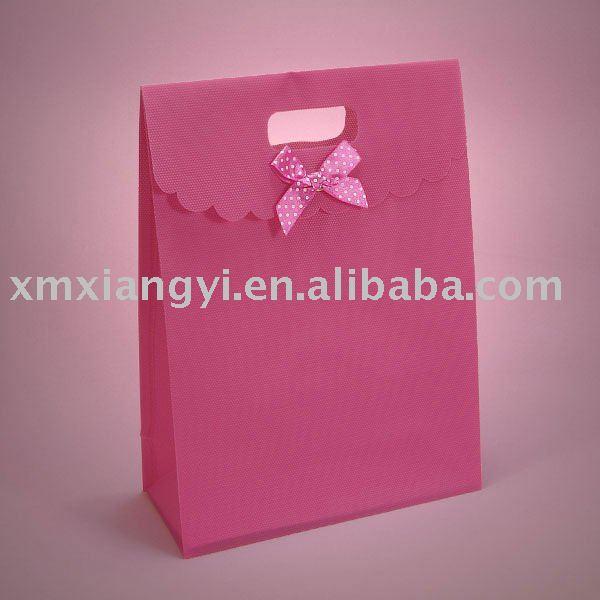 Pink Tab Top Favor Box Bags