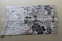 New fashion Linen scarf large floral