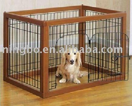 Indoor Dog gate wood / wooden pet kennel