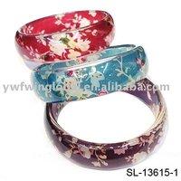 Acrylic bracelet(colored resin bracelet,charmful bangle)