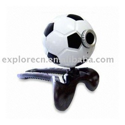 Fooball shaped usb web camera