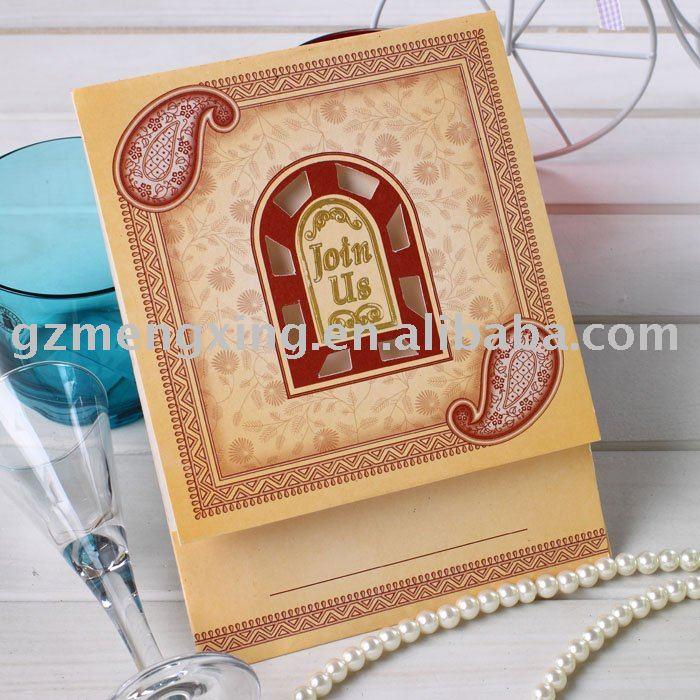 See larger image Hindu style wedding invitation cardsHW011