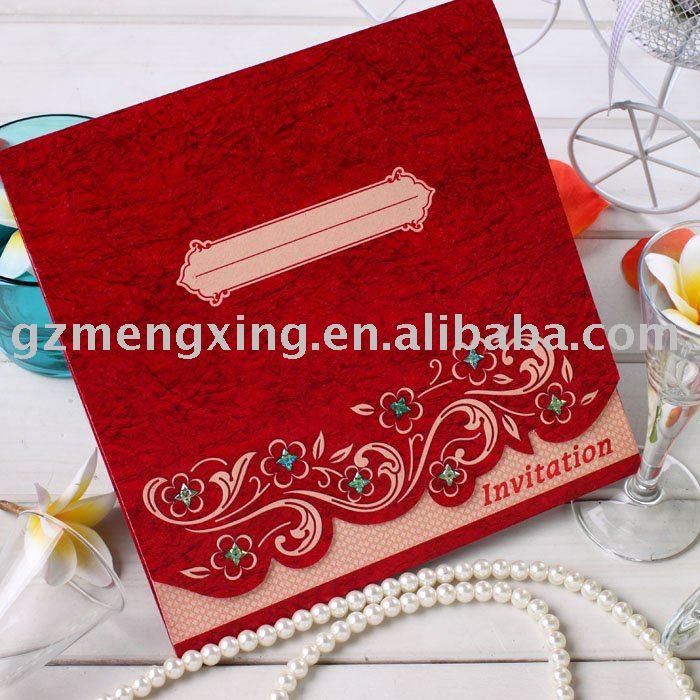 See larger image Hindu style Arabian style wedding invitation cardsHW037