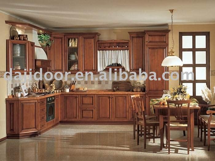 Luxe classique en bois massif armoires de cuisine dj k031 armoire de cuisine id du produit Cuisine classique en bois massif