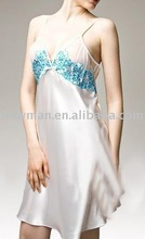 low price promotional satin night dress for girls