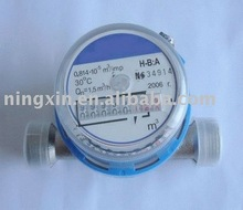 Dry type single jet hot/cold water meter
