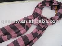 fashion acrylic striped winter scarf