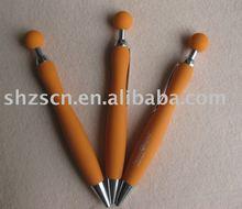 promotional pen/ball shaped topper plastic ballpen/ball shaped pusher ballpen