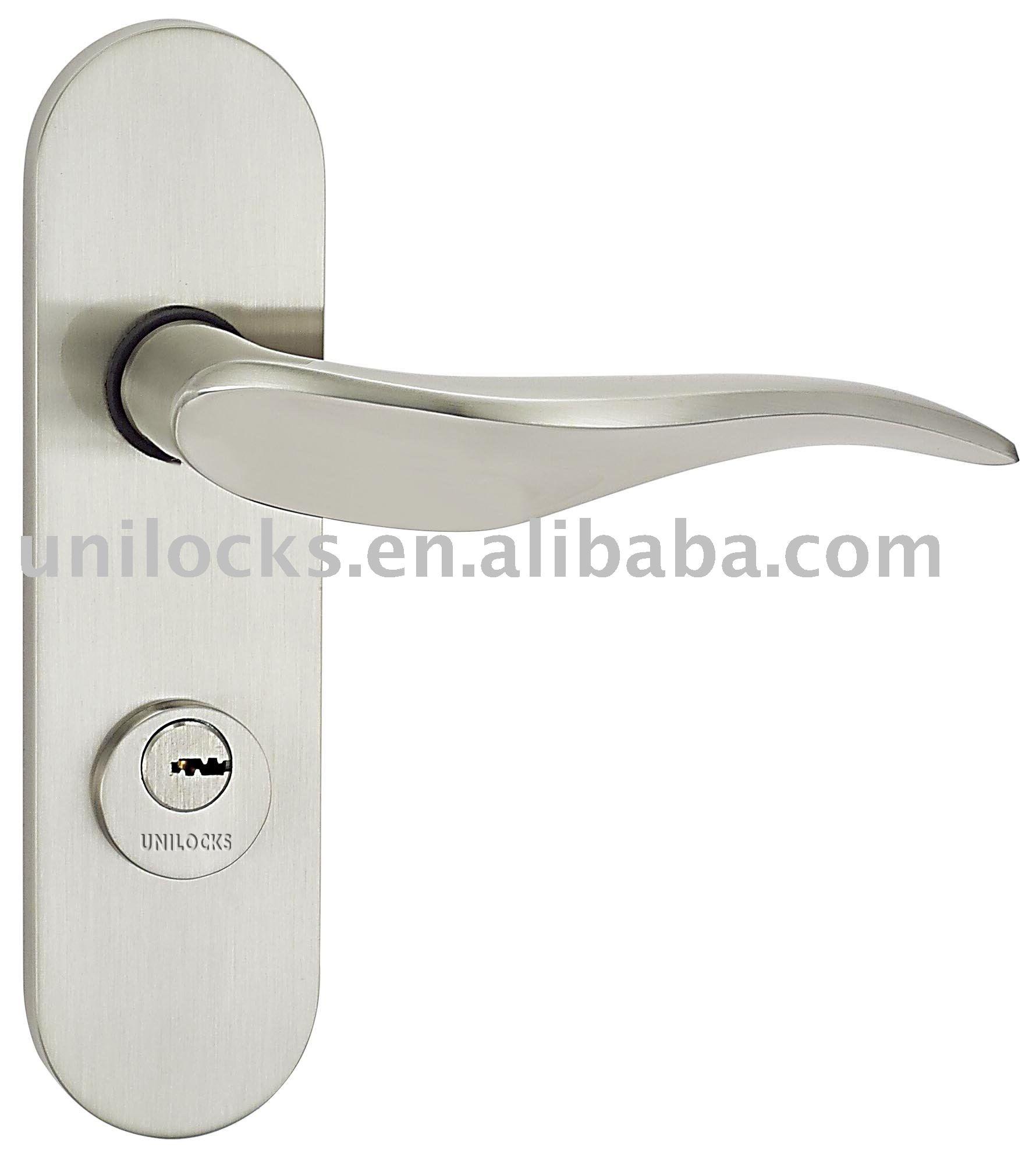 Zinc Alloy Handles Zinc Alloy Door Handle With Plate Zinc
