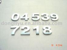 Car chrome letter number badge emblem