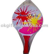 Beach paddle ball set / wooden paddle ball /Beach racket